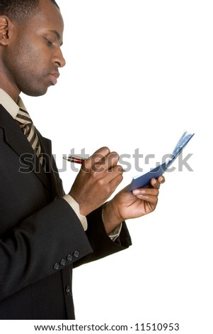 Man Writing Check - stock photo