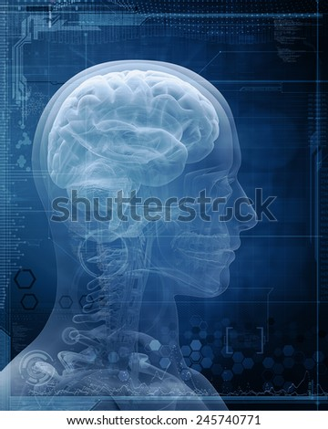 man x-ray - stock photo