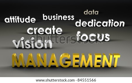 Management at the Forefront in 3d Presentation - stock photo