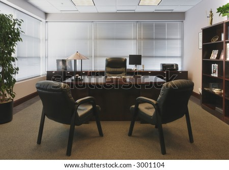 Management's Office Space - one point perspective
