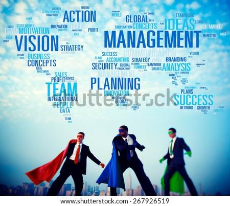 Management Vision Action Planning Success Team Business Concept - stock photo