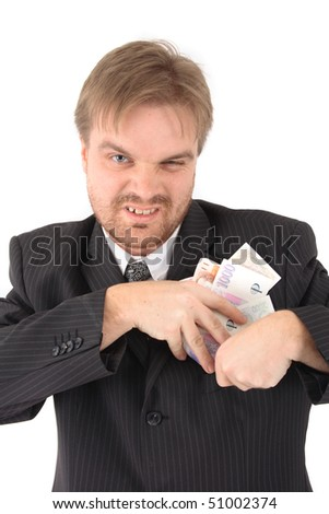 manager and corruption - stock photo
