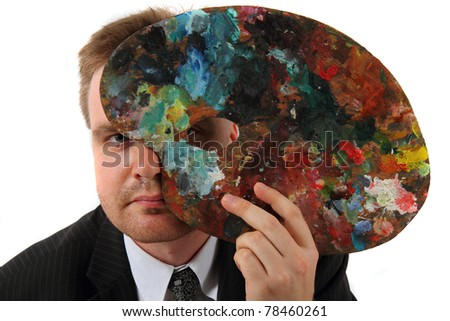 manager as artist - stock photo