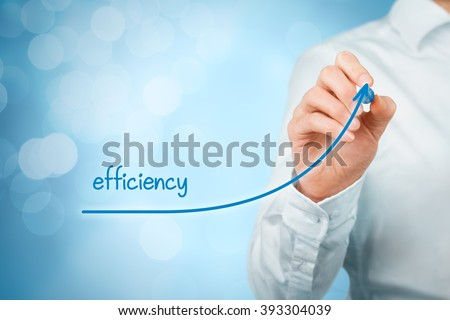 Manager (businessman, coach, leadership) plan to increase efficiency. - stock photo
