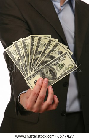 manager with money - stock photo
