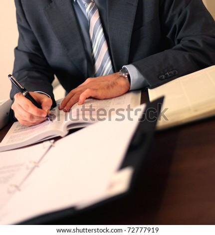 Manager working - stock photo