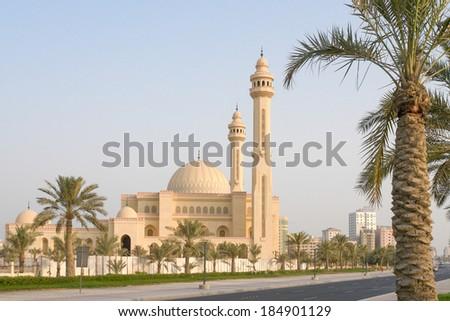 Manama, Bahrain - Al Fateh Grand Mosque  - stock photo