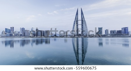 Bahrain Manama Center City Stock Images Royalty Free Images