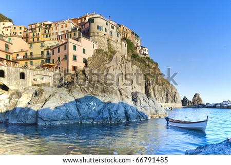 Manarola, Cinque Terre, Liguria, Italy - stock photo
