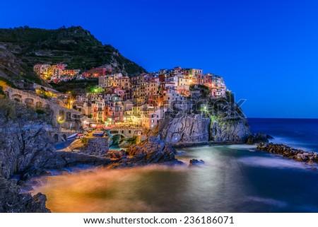 Manarola, Cinque Terre, Tuscany, Italy - stock photo