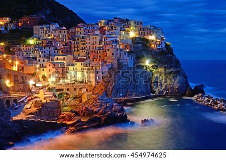 Manarola in Cinque Terre,Italy - stock photo