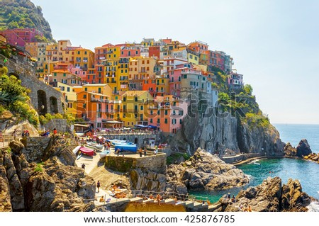 Manarola, one of famous villages of Cinque Terre, Italy