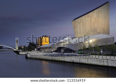 MANCHESTER, ENGLAND- SEPT 2: Imperial War Museum on Sept 2,2012 in Manchester, England. The museum is recognized as the leading authority on conflict and its impact from the World Wars to the present. - stock photo