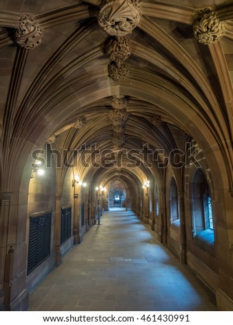 MANCHESTER - MAY 22: Interior design of John Rylands Library, part of University of Manchester, was taken on May 22, 2016, in Manchester city, England.