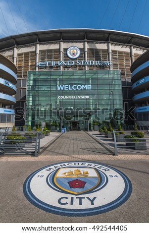 Manchester united kingdom 3 oct 2016 etihad stadium is the home