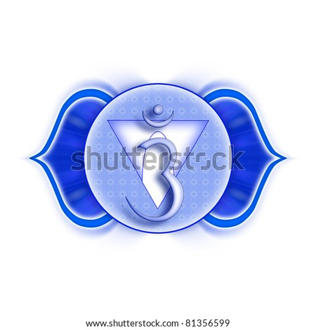 Mandala Chakra Ajna isolated - stock photo