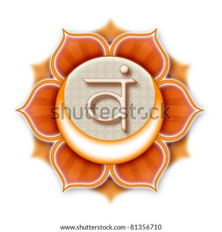 Mandala Chakra Swadhisthana isolated - stock photo