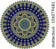 mandala created from fractals - a full-blown Flower of - stock photo