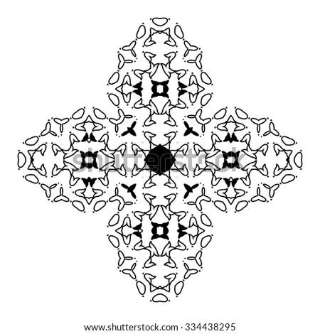 Mandala. Ethnic decorative elements. Hand drawn background. Islam, Arabic, Indian, ottoman motifs. Raster version - stock photo