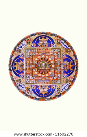Mandala isolated on white - stock photo