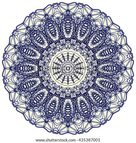 Mandala Mehndi Style. Ethnic oriental indian style. Mehndi henna design for textile. - stock photo