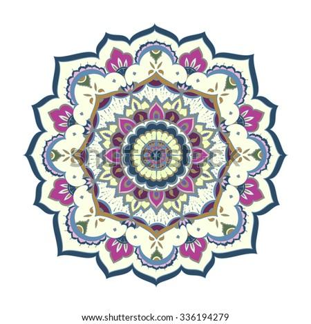 Mandala, ornamental round pattern. Tribal, ethnic, bohemian, islam, indian style - stock photo