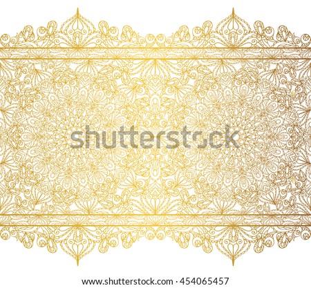 Mandala Seamless Pattern Bordersstrips Background Vintage Decorative ...