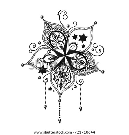 Mandala tattoo hand drawn lotus flower stock illustration 721718644 mandala tattoo hand drawn lotus flower sacred symbol mightylinksfo