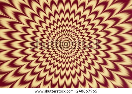 Mandala yellow and red circular pattern. - stock photo