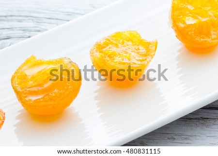 Mandarin candied clementines