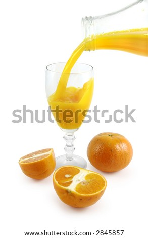 Mandarin juice. Clipping path included. - stock photo