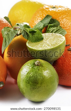 mandarin, orange, lime, lemon