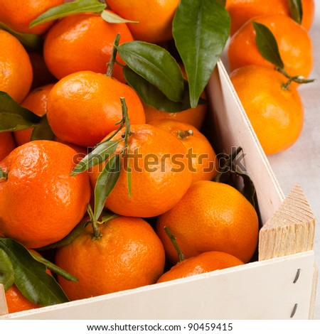 Mandarin Oranges (Clementines) in a shipping box