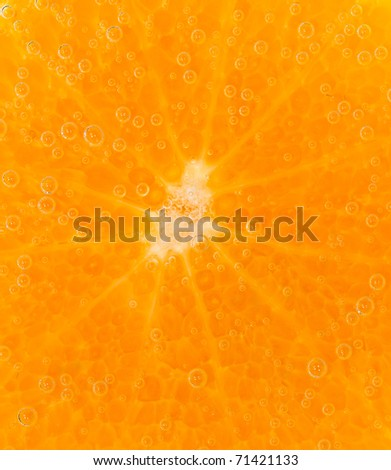 mandarine coverd with bubbles isolated - stock photo