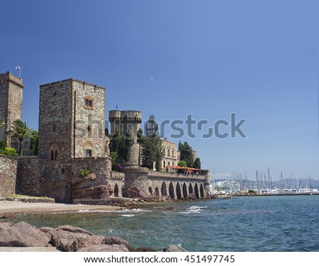 Mandelieu-la Napoule Castle, South of France - stock photo