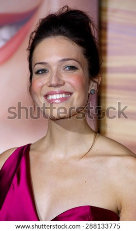 Mandy Moore at the Los Angeles premiere of 'Tangled' held at the El Capitan Theater in Hollywood on November 14, 2010.