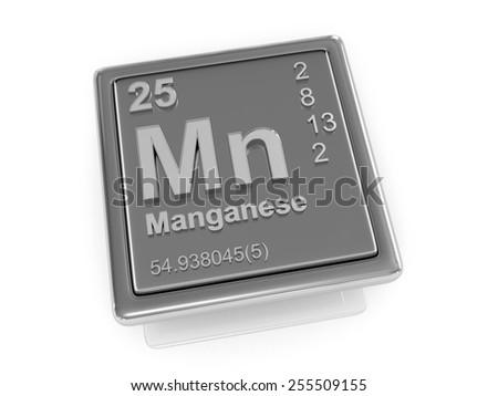 Manganese. Chemical element. 3d - stock photo