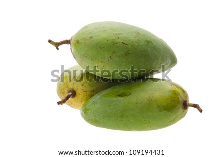 mango. green mango with background.