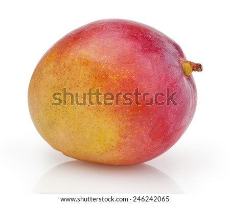 Mango isolated on white background with clipping path - stock photo