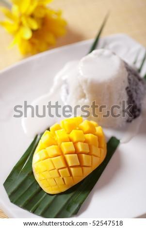 Mango rice - stock photo