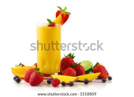 Mango smoothie - stock photo