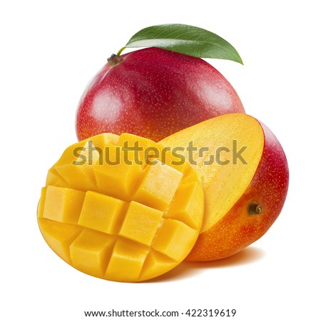 Cut mango stock images royalty free images vectors shutterstock mango whole half cut isolated on white background round composition as package design element ccuart Choice Image