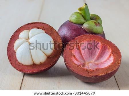 Mangosteen - stock photo