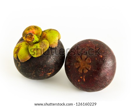 Mangosteen, native tropical fruit to the South Asia