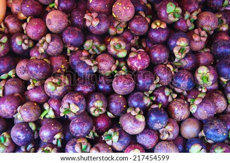 Mangosteen of Thailand - stock photo