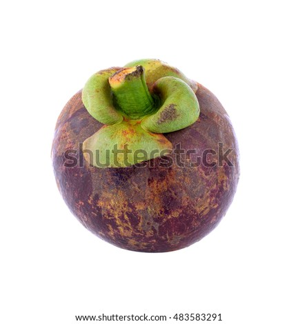 mangosteens on white background