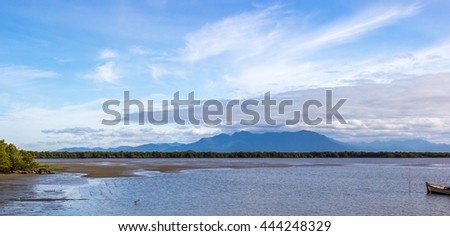 Mangrove and Mountain Landscape.