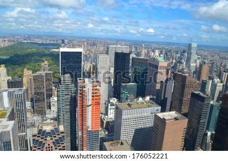 Manhattan Architecture in New York ,USA - stock photo