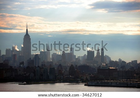 Manhattan at sunrise