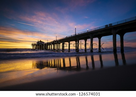 Manhattan Beach Pier - stock photo